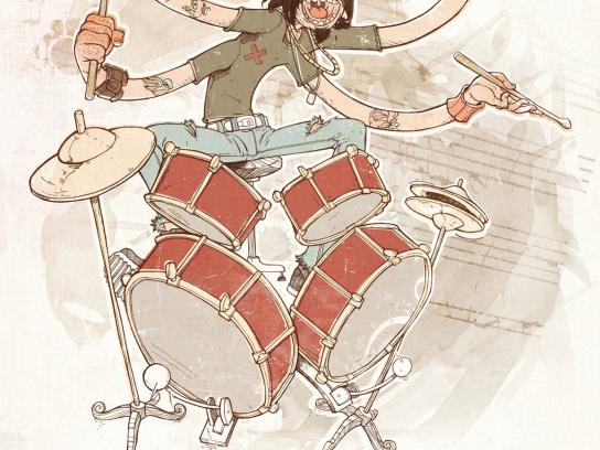 SAMRO Print Ad -  Drummer