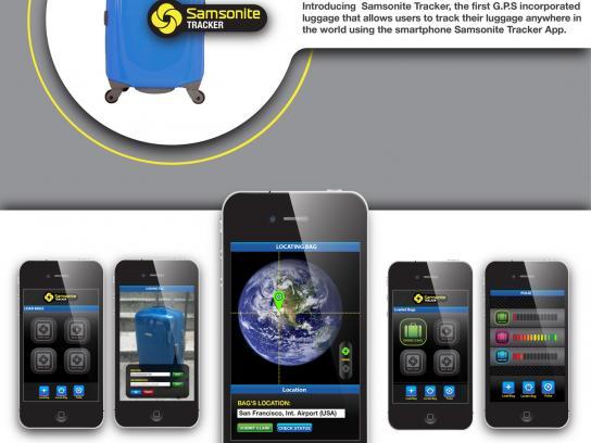 Samsonite Ambient Ad -  GPS Tracker
