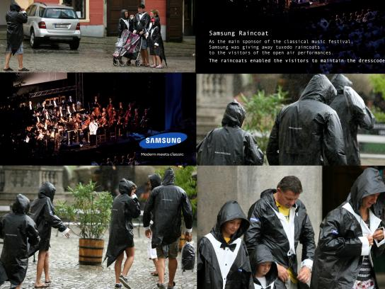 Samsung Ambient Ad -  Tuxedo raincoats