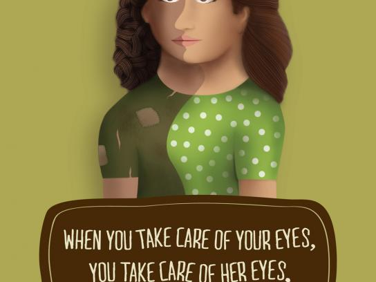 Sankara Eye Hospital Print Ad -  Two Faces, 1