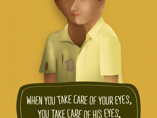 Sankara Eye Hospital Print Ad -  Two Faces, 2