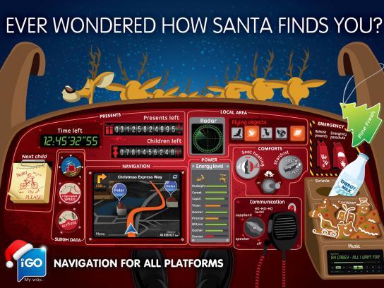 iGo Print Ad -  Santa's cockpit
