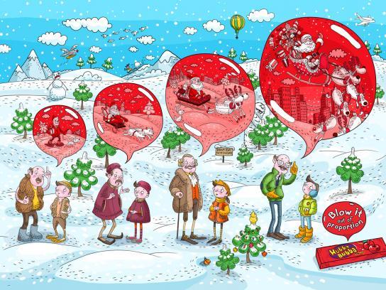 Hubba Bubba Print Ad -  Santa