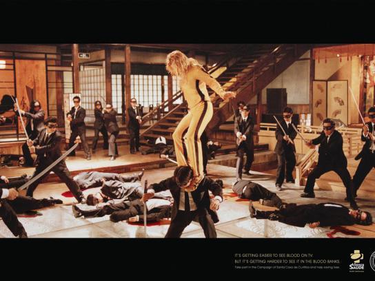 Santa Casa Print Ad -  Blood on TV, 1