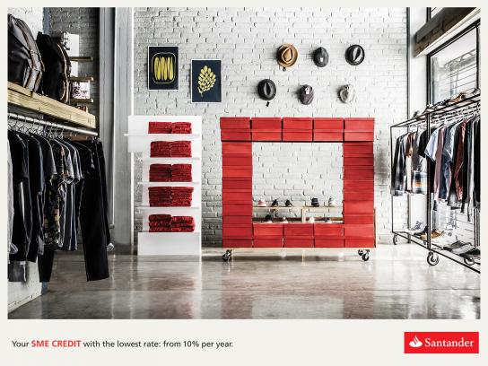 Santander Print Ad -  Clothes Shop