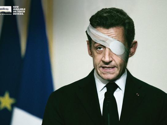 il manifesto Print Ad -  Sarkozy
