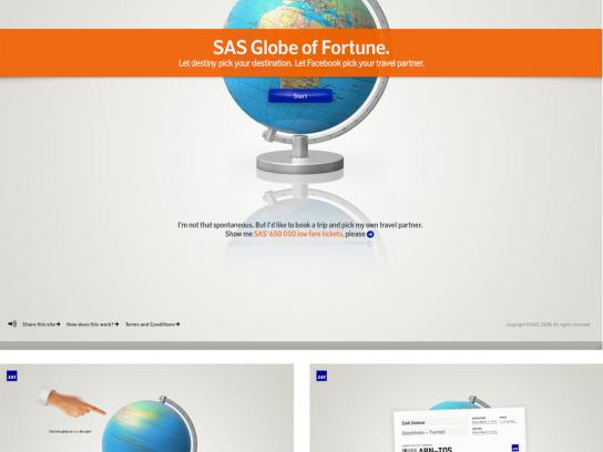 SAS Digital Ad -  SAS Globe of Fortune