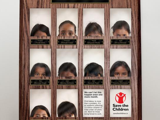 Save the Children Print Ad -  Employee of the Month