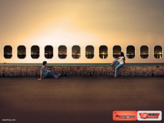 SBA airlines Print Ad -  Windows, 1