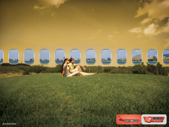 SBA airlines Print Ad -  Windows, 4