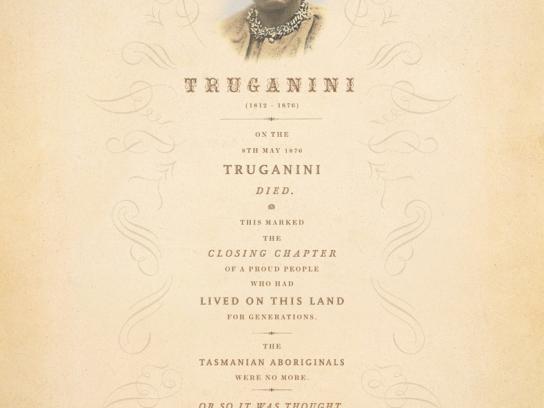 SBS Print Ad -  Truganini