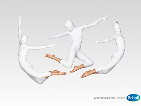 Scholl Print Ad -  Undivided attention for feet