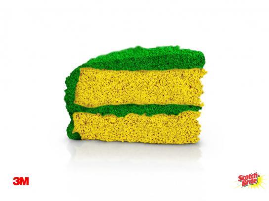 Scotch-Brite Print Ad -  Cake
