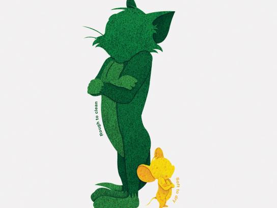 Scotch-Brite Print Ad -  Tom & Jerry
