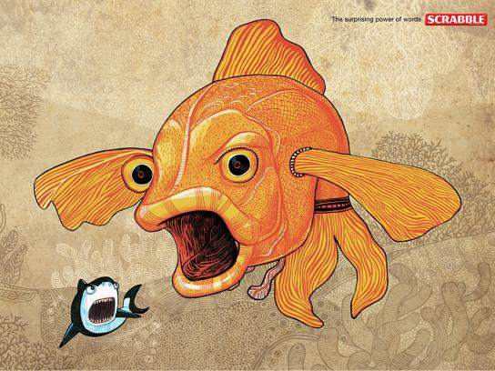 Scrabble Print Ad -  Gold fish