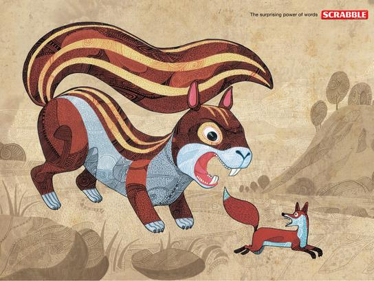 Scrabble Print Ad -  Squirrel