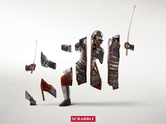 Scrabble Print Ad -  Warrior