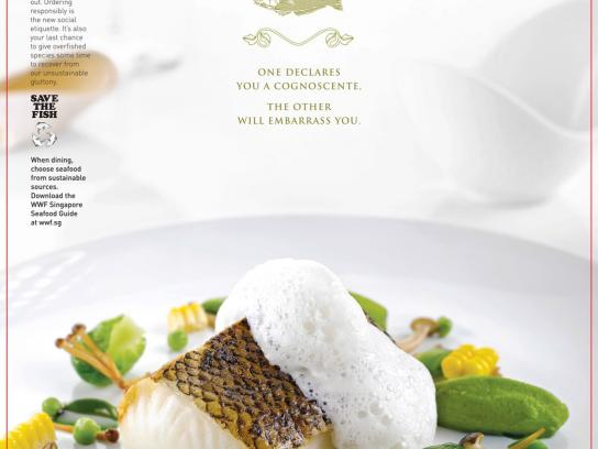 WWF Print Ad -  Enter the World of Sustainable Seafood, Seabass