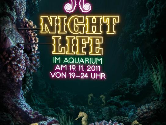 Zoo Cologne Print Ad -  Neon, Seahorse