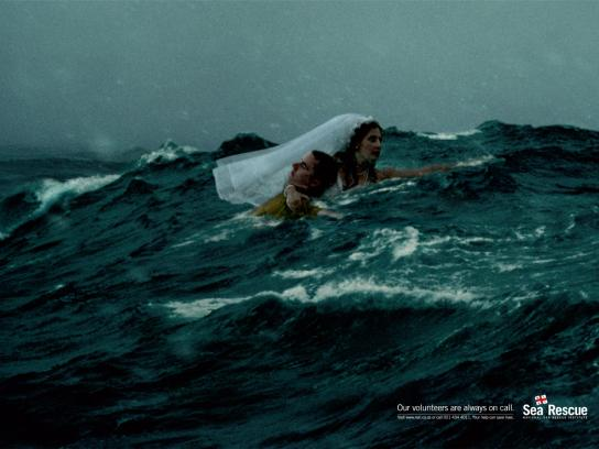 National Sea Rescue Institute Print Ad -  Wedding