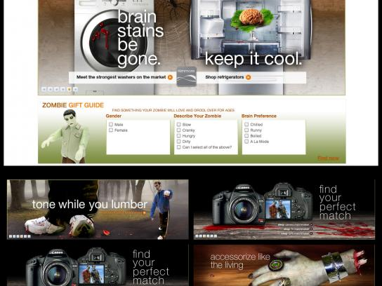 Sears Digital Ad -  Zombie campaign site
