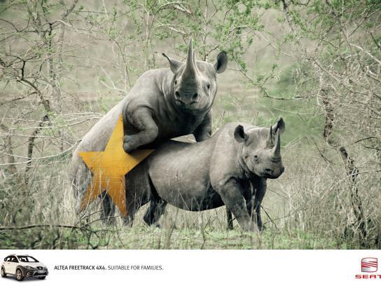 Seat Print Ad -  Rhinos