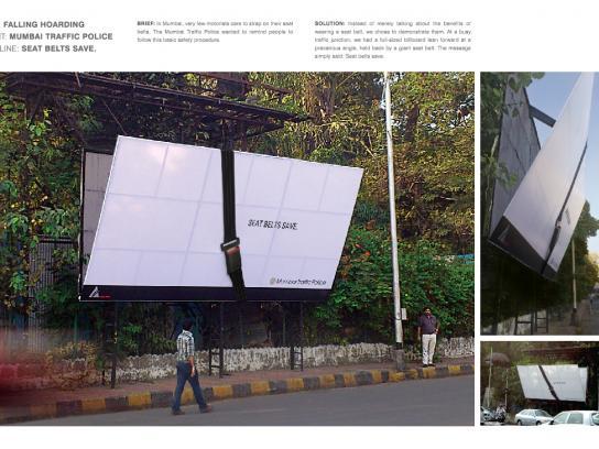 Traffic Police Mumbai Outdoor Ad -  Falling hoarding