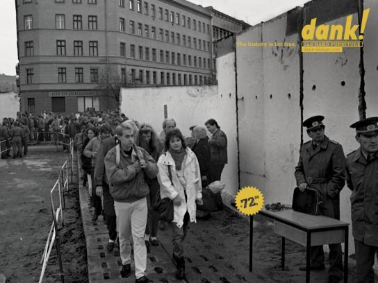Dank! Print Ad -  Berlin Wall