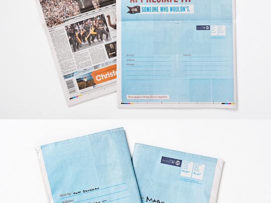 Newspaper Publishers Association Print Ad -  Send a Newspaper