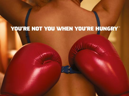 Snickers Outdoor Ad -  You're not you when you're hungry, Sex