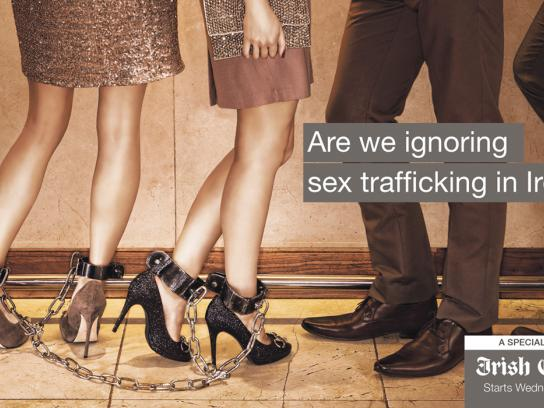 Irish Examiner Outdoor Ad -  Sex Trafficking