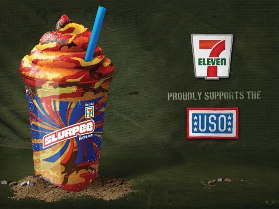 7 Eleven Print Ad -  USO