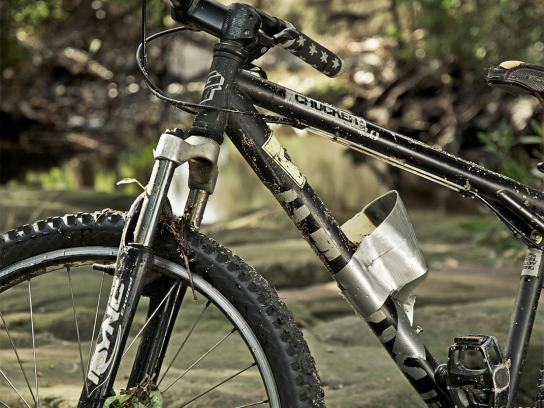 Shake N' Go Print Ad -  Mountain bike