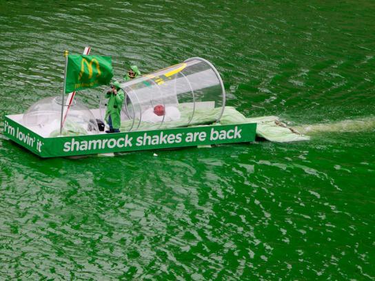McDonald's Ambient Ad -  Shamrock Shake Spill
