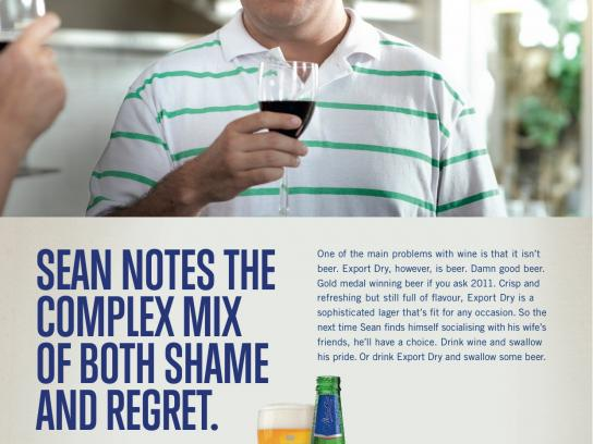 DB Export Dry Print Ad -  Shame