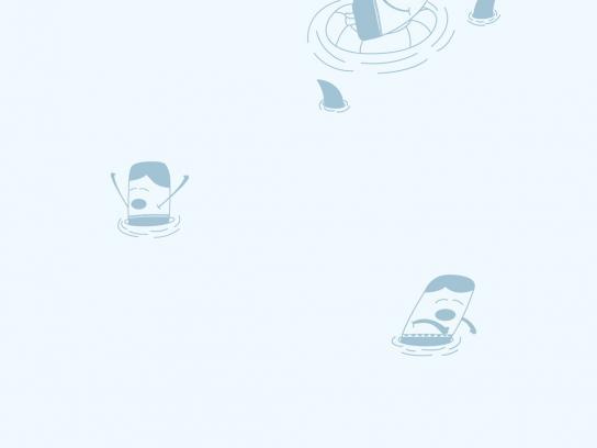 AcquaFloral Print Ad -  Shark