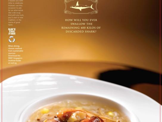 WWF Print Ad -  Enter the World of Sustainable Seafood, Sharkfin