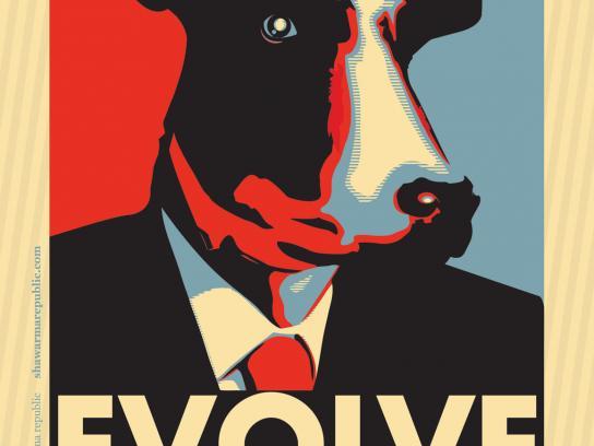 Shawarma Republic Print Ad -  United We Sandwich, Cow