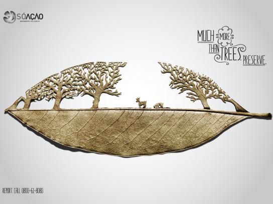 SÓ AÇÃO Print Ad -  Much more than trees, 3