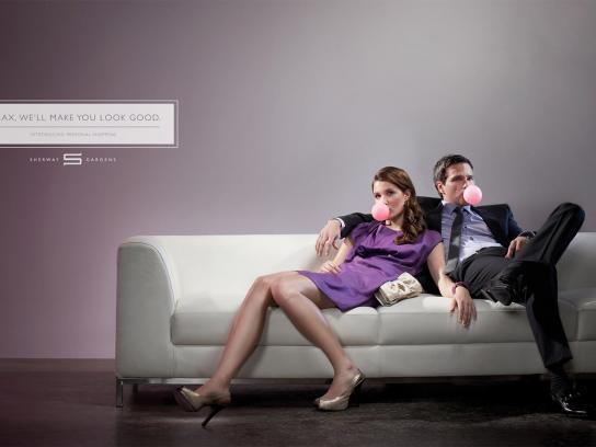 Sherway Gardens Print Ad -  Couple