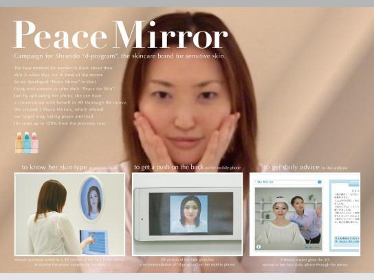 Shiseido Direct Ad -  Peace mirror