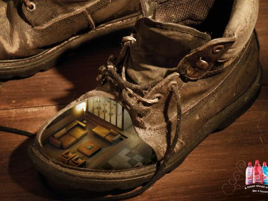 Ajax Print Ad -  Shoe