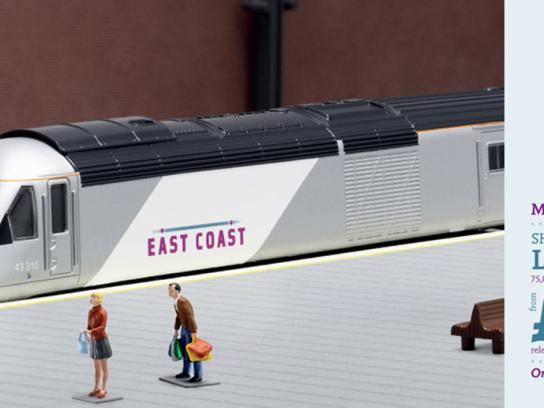 East Coast Trains Print Ad -  Miniature prices, Shopping