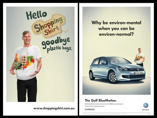 Volkswagen Print Ad -  Shopping Shirt