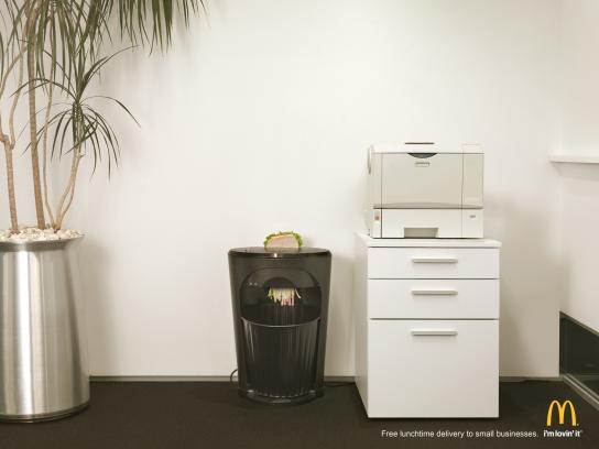McDonald's Print Ad -  Shredder