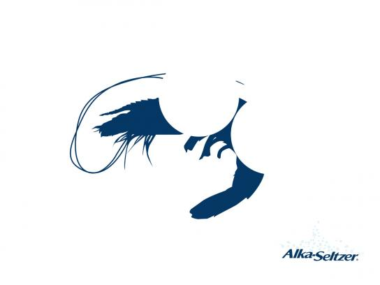 Alka Seltzer Print Ad -  Shrimplhouette