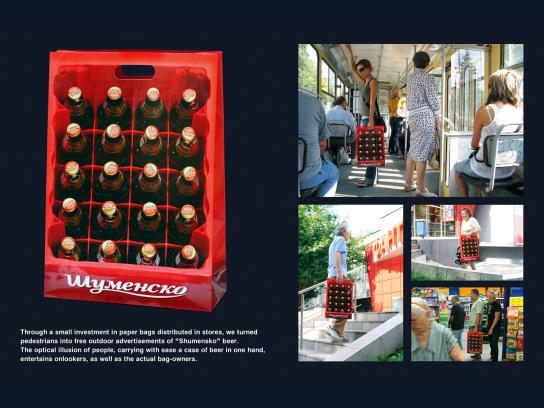 Shumensko Direct Ad -  Beer crate
