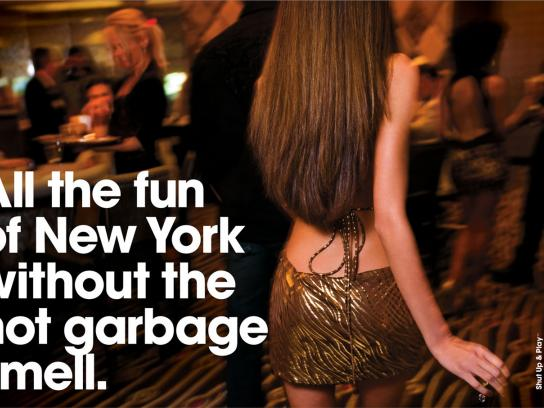 New York-New York Hotel & Casino Print Ad -  Garbage