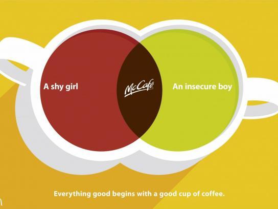 McDonald's Print Ad -  Shy Girl