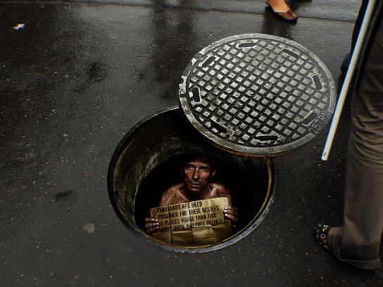 Manhole sticker